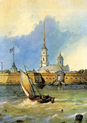 Старый СПб. Петропавловский собор