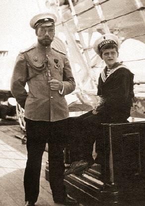 Николай II и Алексей на яхте