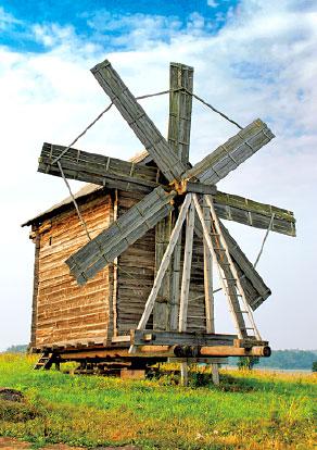 Кижи. Ветряная мельница