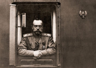 НиколайII в вагоне царского поезда