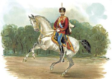 Император Николай II в форме Гусарского полка
