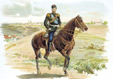 Император Николай II в форме Драгунского полка