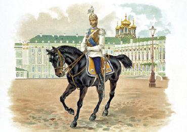 Император Николай II в форме Кирасирского полка