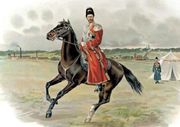 Император Николай II в форме Собственного Конвоя
