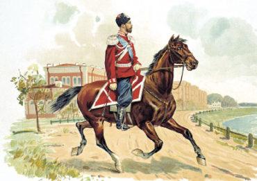 Император Николай II в форме Казачьего полка