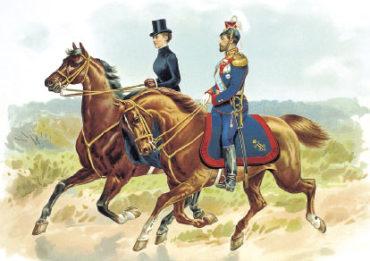 Император Николай II в форме Уланского полка