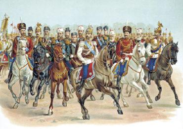 Николай II в форме Кавалергардского полка