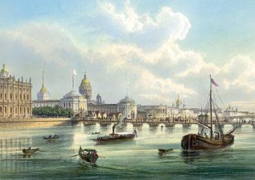 Старый СПб. Дворцовый мост