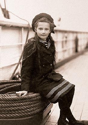 Великая княжна Татьяна на яхте «Штандарт»