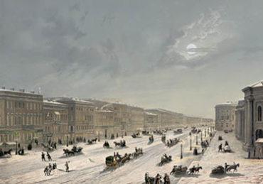 Старый СПб. Невский проспект зимой