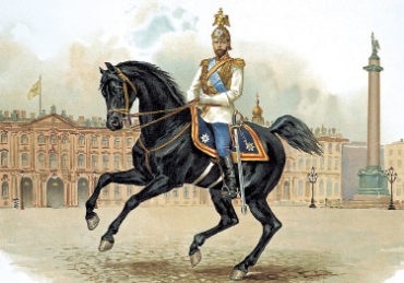 Император Николай II в форме Конного полка