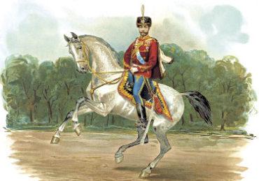 Император НиколайII в форме Гусарского полка