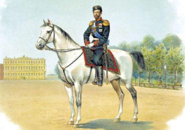 НиколайII в форме Преображенского полка