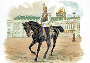 Император НиколайII в форме Кирасирского полка