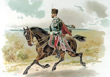 Николай II в форме Гродн. Гусарского полка