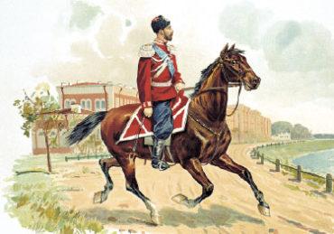 Император НиколайII в форме Казачьего полка