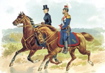Император НиколайII в форме Уланского полка