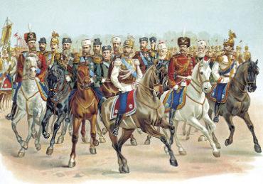 НиколайII в форме Кавалергардского полка