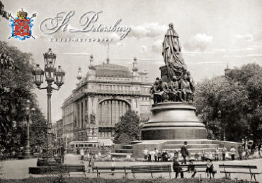 Старый СПб. Памятник Екатерине II