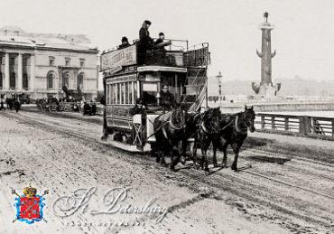 Старый СПб. Конка на Дворцовом мосту