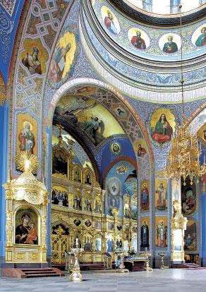 Валаам. Интерьер Спасо-Преображенского собора