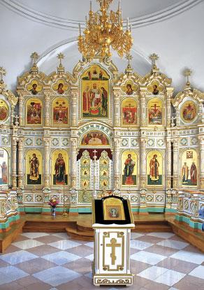 Валаам. Интерьер Воскресенской церкви