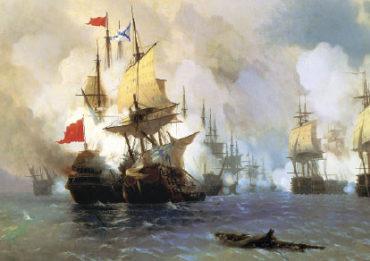Айвазовский. Сражение в Хиосском проливе