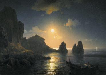 Айвазовский. Морской вид при луне