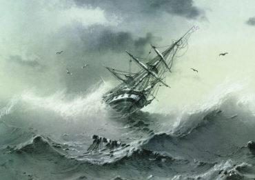 Айвазовский. Тонущий корабль