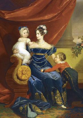 Императрица Александра Федоровна с детьми (Доу)