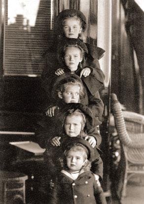 Дети Николая II на яхте