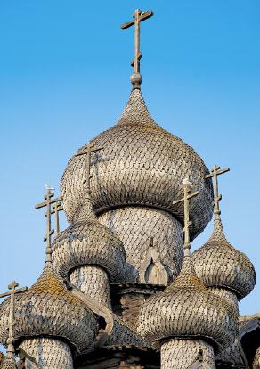 Кижи. Купола  Преображенской церкви