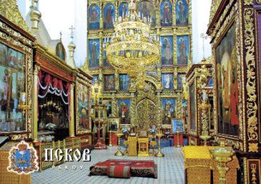 Псков. Интерьер Свято-Троицкого собора