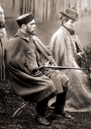 НиколайII и Александра Федоровна на охоте