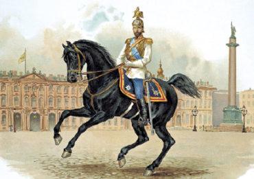 Император НиколайII в форме Конного полка